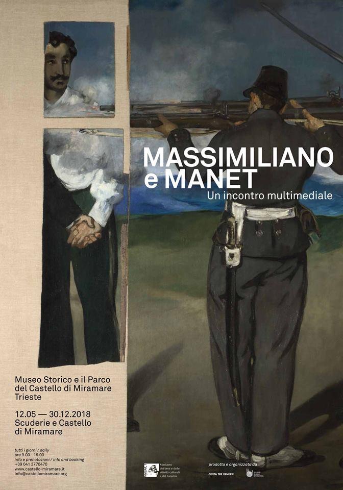 Massimiliano e Manet-Mostra Multimediale - Locandina©SensoImmersive